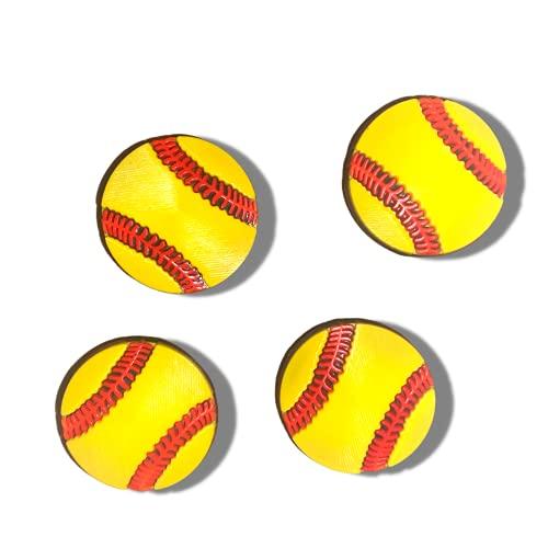 Softball Charms For Crocs, Set Of 4 Softball Croc Charms, Crocs Charms Softball, Softball Accessories,girls Softball Gifts Ideas, 4pcs Softball Croc Charm