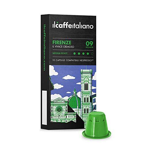 FRHOME - 100 Capsules de café compatibles Nespresso - Mélange Firenze intensité 9 - Il Caffè Italiano