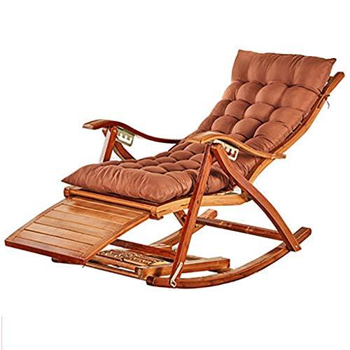 KYSZD-Rails d'aide au lit Deck Relaxing Recliner Lounger Seat Bamboo Sun Lounger Garden Chairs with Cushions Beach Garden Bedroom Balcony Balcony Bearing Weight 200 kg