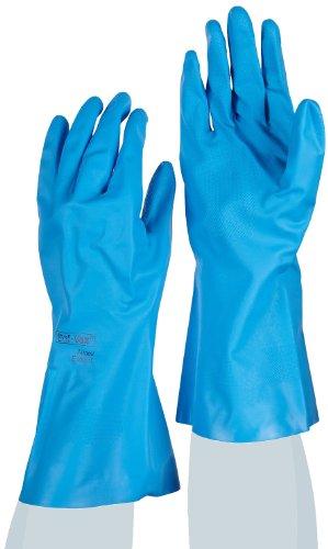 Ansell VersaTouch 37-510 Gants en nitrile, procédé agroalimentaire, Bleu, Taille 11 (Sachet de 12 paires)