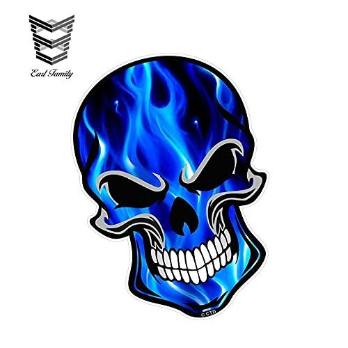 A/X Sticker de Carro 12 cm 8,3 cm cráneo de Motociclista gótico...