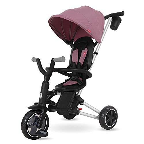 QPLAY - Triciclo Nova - Evolutivo - Plegable - Reclinable - Ideal para Niños de 10 a 36 Meses (máximo 25 Kg) (Morado)
