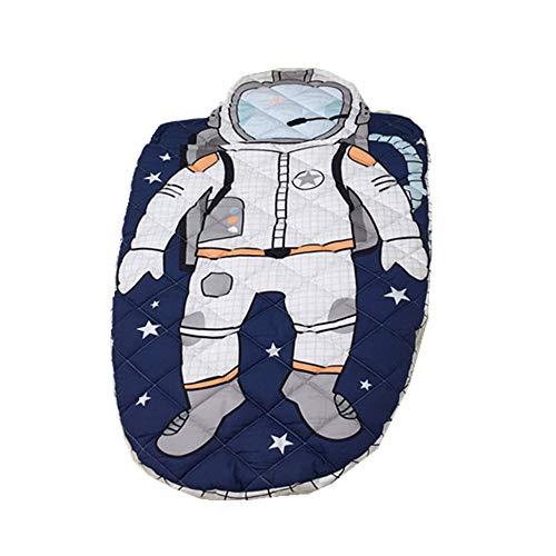 SICOFD Kinderschlafsack Baumwolle Winter, Astronaut Kinder-Schlafsack, Mumienschlafsack Weiches Innenfutter, für Kinder Camping im Freien, Party Outdooraktivitäten 70x150CM