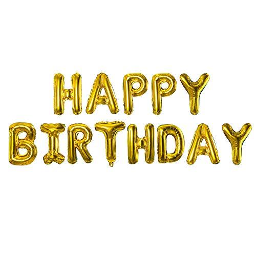 TRIXES Ballons Dorés Qui forment Les Lettres de Happy Birthday