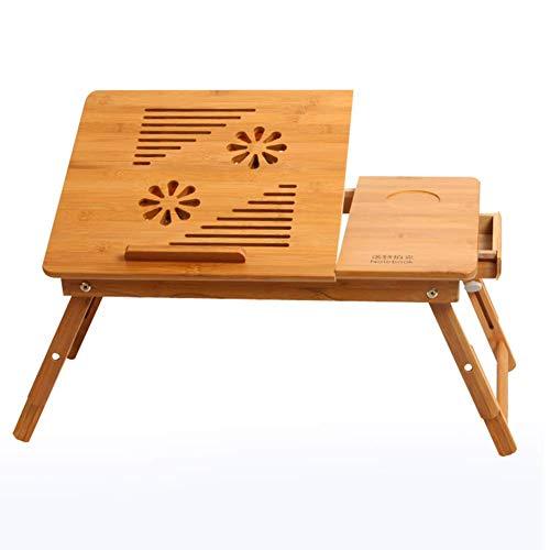 KANJJ-YU Escritorio para ordenador portátil, altura ajustable, dormitorio, sala de estar, sofá, mesita de noche, mesa perezosa, extraíble y plegable