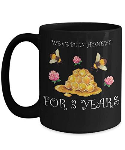 Taza té cerámica uso prolongado 3er Aniversario We 'Hemos Sido Mieles 3 Años Mejor 3 Aniversario Matrimonio Tercera Esposa Husb Taza bebida café Regalo