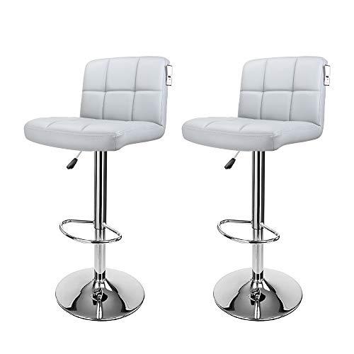 display4top Taburetes de Bar, con Estructura cromada, sillas giratorias de 360 Grados, Acolchadas Bl