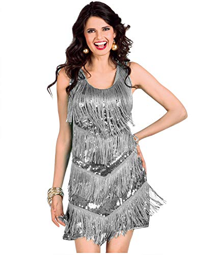 keland Vestido de mujer con flecos de tirantes, para cócteles, fiestas, con diadema, hasta la rodilla, vestido sin mangas