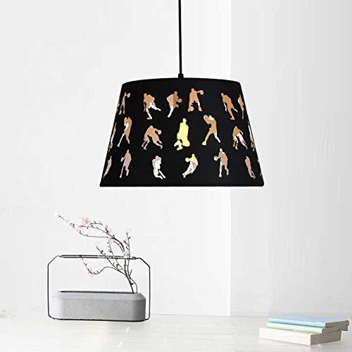 Lampenkap van ijzer, industriële stijl, retrostijl, enkele kop, creatieve persoonlijkheid, tafellamp, eettafel, hanglamp, 1 lamp, E27, max. 60 W, Ø35 cm (hoogte