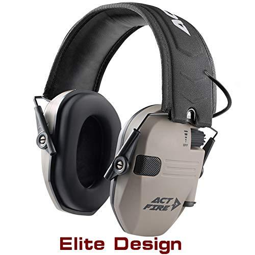 ACT FIRE Shooting Earmuffs, Electronic Shooting Hearing Ear Protection for Gun Range
