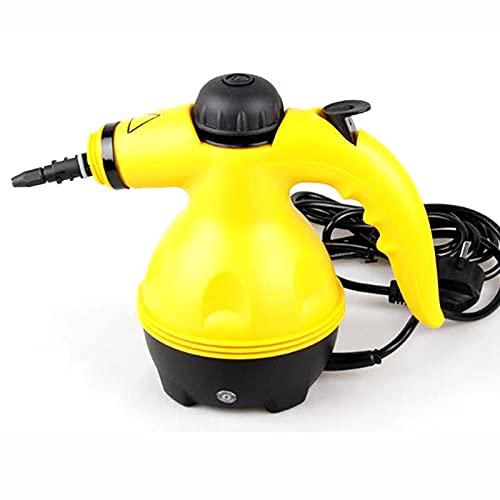 LTJT-MR Limpiador de Vapor Presurizado de Mano Multiusos con Accesorios de 9 Piezas, Quitar Manchas, Cortinas, Asientos de Automóvil, Pisos, Limpieza de Ventanas
