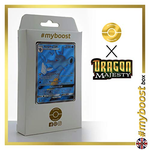 Kingdra-GX 66/70 Full Art - #myboost X Sun & Moon 7.5 Dragon Majesty - Doos met 10 Pokemon Engelse kaarten