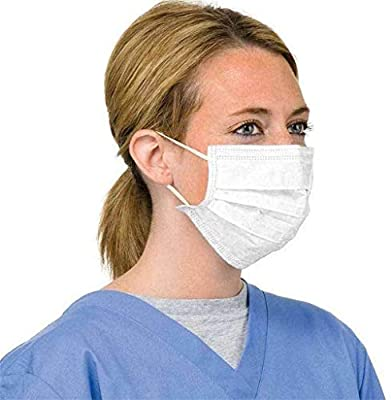50 Pcs Disposable Protective white Face Protection 3 Layer Filter Mouth Face Anti-Dust Anti-Fog Earloop