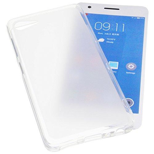 foto-kontor Tasche für ZUK Z2 Gummi TPU Schutz Handytasche transparent weiß