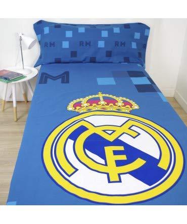 10XDIEZ Juego de sabanas Real Madrid 181040 - Composición - 50% algodón + 50% poliéster