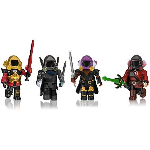 ROBLOX ROB0306 Dominus Dudes 4er Figuren Pack Spielset mit 4 Actionfiguren, Zubehör und Spielcode für Kinder ab 6 Jahren