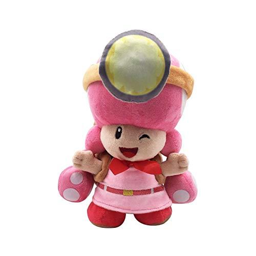 Yijinbo Super Mario Bros Capitán Toadette Peluche Peluche Peluche Animal con Mochila Toad Treasure Tracker 8 Pulgadas