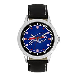 NFL Buffalo Bills Mens Player Series Wrist Watch, Silver, One Size