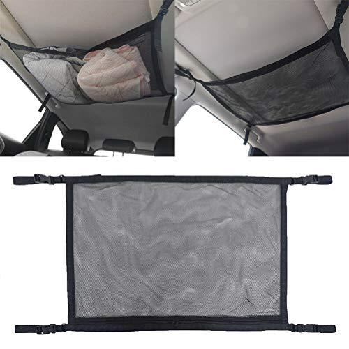 Red de coche MIFASA, red de almacenamiento de techo de coche, bolsillo de doble capa, universal, para interior de coche, bolsa de almacenamiento de maletero