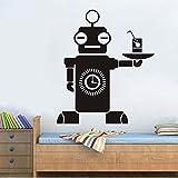 QwerlpAsistente De Robot Art Vinyl Wall Sticker Camarero De Inteligencia Para...