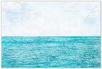 ウォールアート70x90cmフレームなし穏やかで無限の海海北欧のポスターは、リビングルームの装飾のための北欧の風景ウォールアートの写真を印刷します