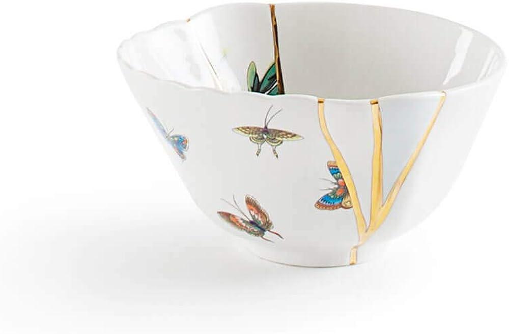 Seletti kintsugi ,ciotola in porcellana e oro 24 carati, mod. 2 124134