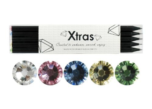 5Piece Crystal Pencil Set–Made with Swarovski Elements–Pastell Selection by Xtras