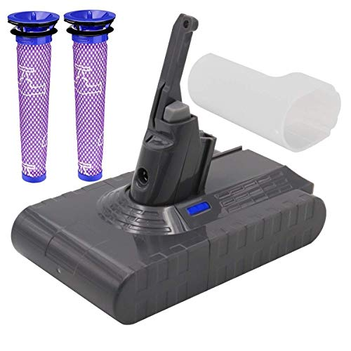 Dyson Battery Replacement - (Upgraded 4500mAh 21.6V) Dyson Battery Dyson V8 Battery Replacement with Filter Compatible for Dyson V8 Absolute Cord-Free Vacuum Cleaner (Not Fit Dyson VC10 Fluffy