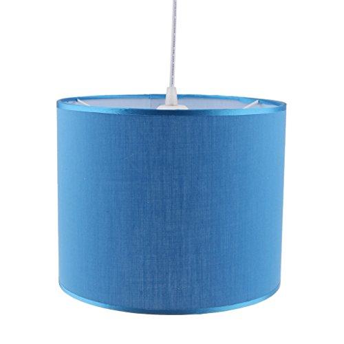 LOVIVER Lámpara Cilíndrica De La Lámpara De La Sombra Pantalla De La Sombra Pantalla del Techo Iluminación del Hogar - Azul