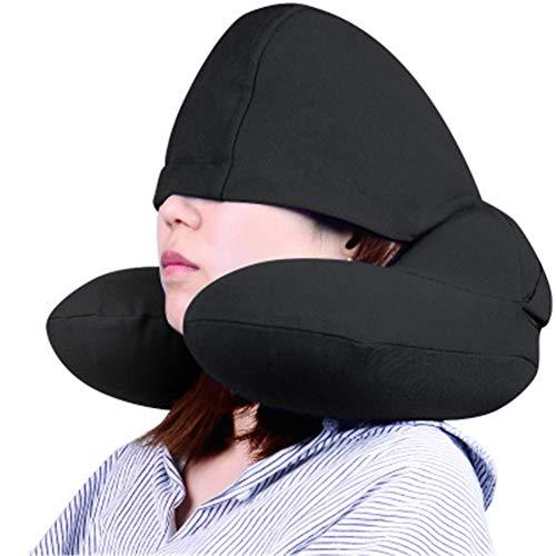 Opblaasbaar nekkussen voor reizen en vliegtuigen, U-vormig vliegtuigkussen - lichtgewicht Stay Cool Fabric - hoofd- en nekondersteuning - mondopvullend, geen pompnoodzaak