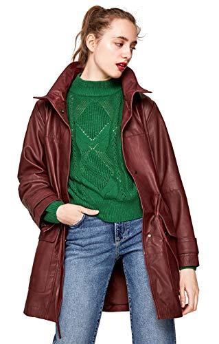 Pepe Jeans - Abrigo Piel MANDIES Mujer Color: 284 GRANET Talla: Size...