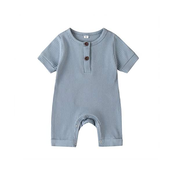 Sasaerucure Unisex One Piece Clothes Baby Boy Girl Romper Solid Plain One Piece Jumpsuit Sleeveless Bodysuit Pajama Outfit