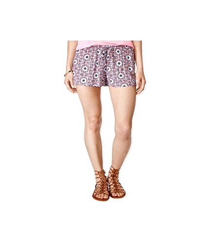 Stoosh Womens Printed Soft Casual Mini Shorts, Pink, X-Small