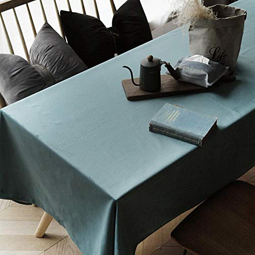 Branfan Velvet Tischdecken runder Tisch Moderne Esstisch Tuchabdeckung Tuch Tischdecken Couchtisch - türkise Farbe 140 * 220cm