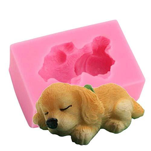 3D forma silikonowa w kształcie psa, czekoladowy pudding kremówka mus dekoracja ciasta forma do pieczenia, ręczna forma do produkcji mydła, kuchnia forma do pieczenia patelnia modelowanie ciasto narzędzie do dekoracji ciasta, DIY żywica forma glinowa