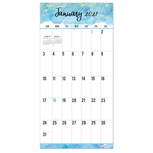 2021-2022 Calendar - 18 Month Wall Calendar, Jan 2021 - Jun 2022, Large Print Big Grid Wall Calendar, 12