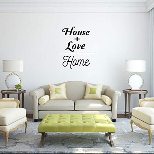 'House + Love Home Vinyl Decal - Makes for a Great Gift for Friends and Family - Living Room, Bedroom or Home Décor – A Variety of Sizes and Colors