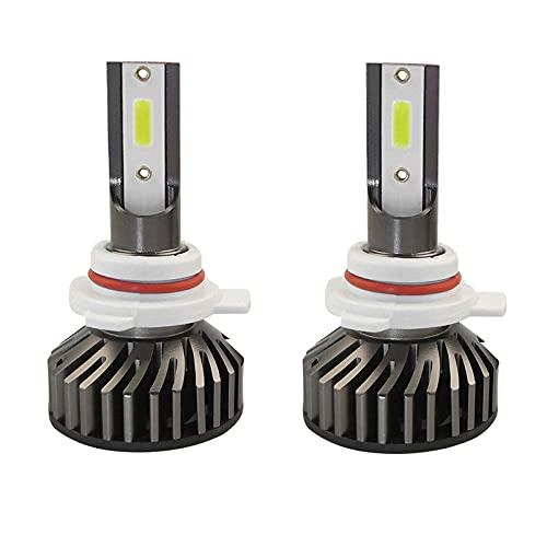 Pumpumly Bombillas LED luces de trabajo kit de faros un juego de 2 piezas blanco impermeable de alta viga