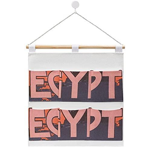Aufbewahrungstasche zum Aufhängen an der Wand, Kairo Ägypten, Vintage, Reise-Poster, Aufbewahrungstaschen, 6 Taschen, Heim-Organizer für Schlafzimmer & Badezimmer