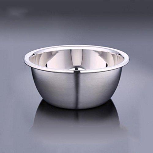 Liuyu Kitchen Home Bassin en acier inoxydable 304 Plus épais Deepen Pots de gros assaisonnements Round Soup Basin Mixing Bowl (taille : 22cm)