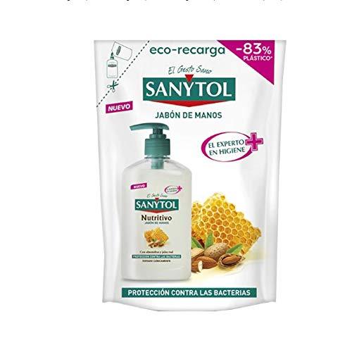 Sanytol - Eco Recarga de Jabón de Manos Nutritivo Antibacteriano, con Almendras...