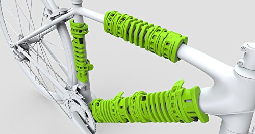 Bopworx Large Bopwraps - Detachable Bicycle Travel Protection System - Protects Bike Frames and Pedals During Transportation - x 2 units