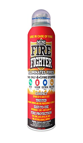 Mini Firefighter MFF01 Multi Purpose 4-in-1 Fire Extinguisher Eliminator for Gasoline, Kitchen Grease, Oil, Electric and Wood Fires. Home Safety Colorado