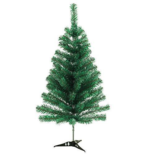 Rapid Teck® Weihnachtsbaum Künstlich 90cm (100 Äste) | Grün | Tannenbaum mit Schnellaufbau Klappsystem Material PVC inkl. Ständer | Nordmanntanne