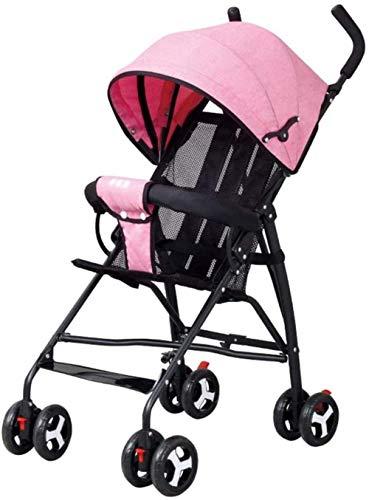 Dpliu - Carrito de bebé ultraligero portátil y plegable, de lino, transpirable, para viaje, triciclo