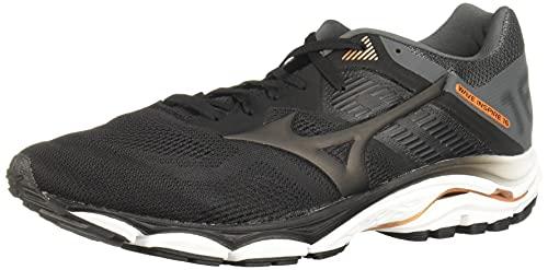 Mizuno Men's Wave Inspire 16 Road Running Shoe, Black, 10.5 D US