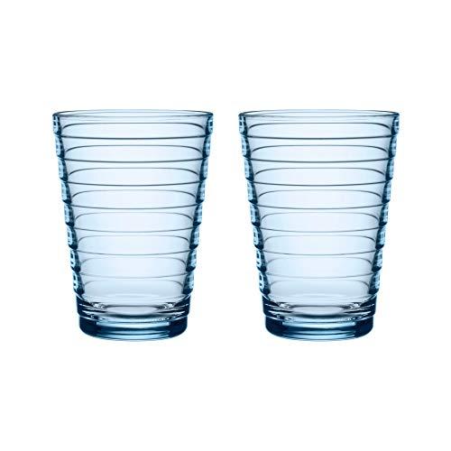 Iittala set van 2 Aino Aalto glazen bekers 33 cl aqua blauw Limited Edition speciale kleur 2018