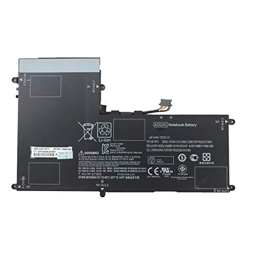 AO02XL HSTNN-C75C HSTNN-C78C HSTNN-IB5O HSTNN-IB5Q HSTNN-UB5O 728250-121 728250-1C1 728250-421 728558-005 2ICP4-74/120 Laptop Batterie Ersatz für HP ElitePad 1000 G2 Series(7.4V 31Wh)