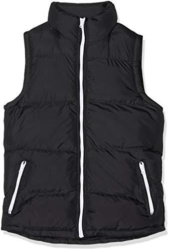 Urban Classics Contrast Bubble Vest Manches, Multicolore (Blk/WHT 00050), XXX-Large Homme