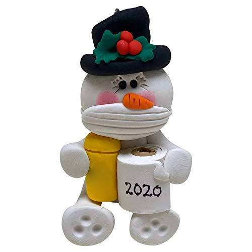 Blingko Weihnachtsschmuck 2020 Personalisierte überlebende Familie der Verzierung Weihnachts Hängen Anhänger Feiertags Dekorationen Weiche Ton Puppe Weihnachtsbaum Ornament (E)